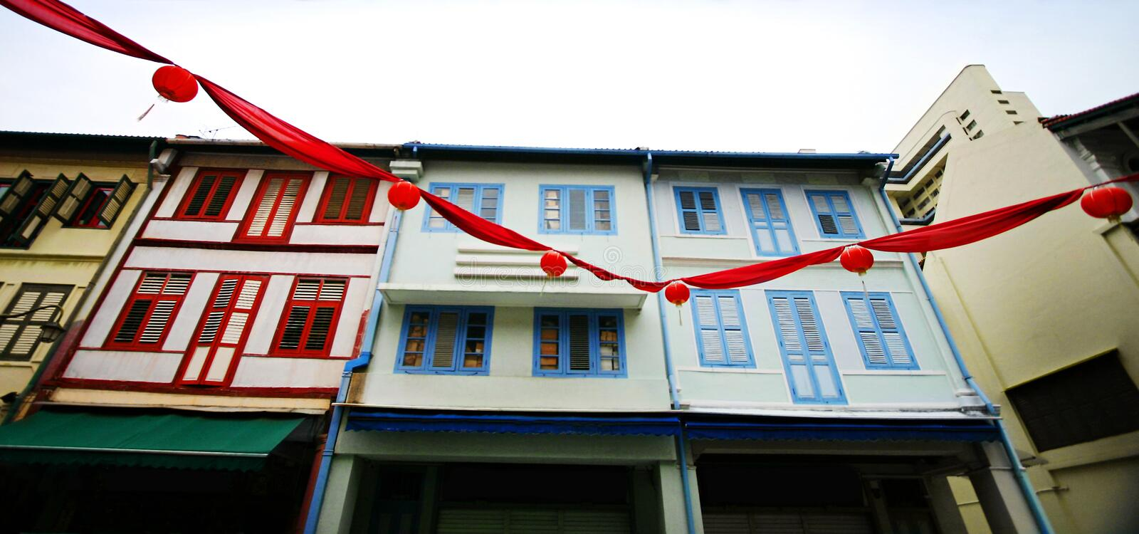 Lunar Chinese New Year in China Town, Singapore royalty free stock photography