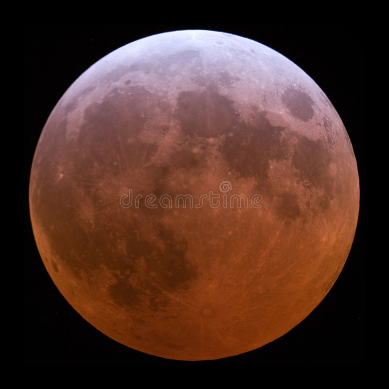 Download Lunar Eclipse stock image. Image of copper, solar, night - 2408261