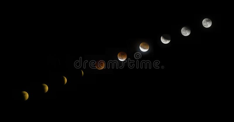 The lunar Eclipse royalty free stock image