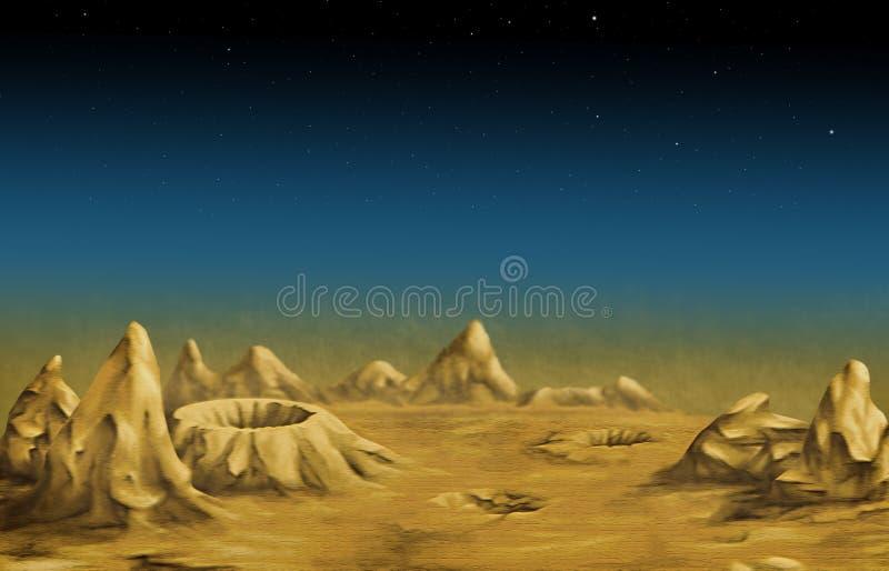 Lunar landscape royalty free stock photography