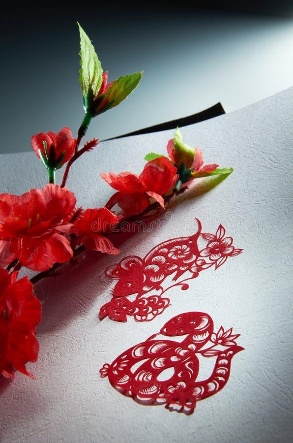 lunar papper för kinesisk cutting fotografering för bildbyråer
