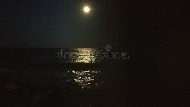 Lunar path stock image