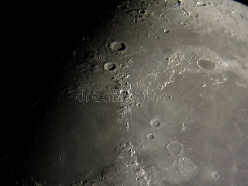 Lunar surface stock photography
