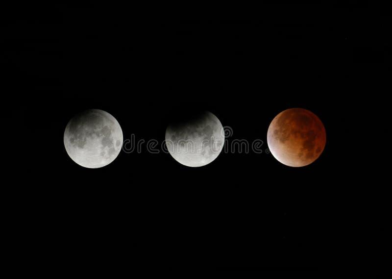 lunar total för förmörkelse arkivfoton