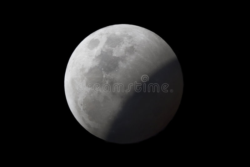 lunar zaćmienie. zdjęcie royalty free