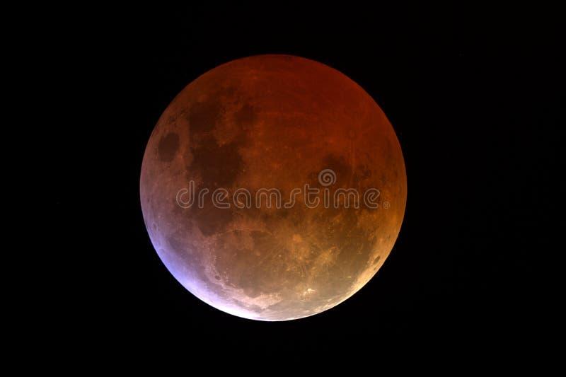 lunar zaćmienie. fotografia stock