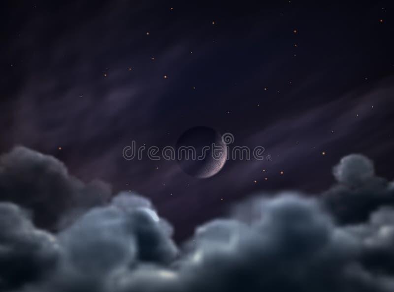 lunar zaćmienie. zdjęcia royalty free