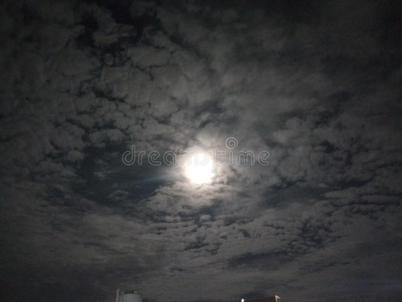 Lunareclipse arkivbild