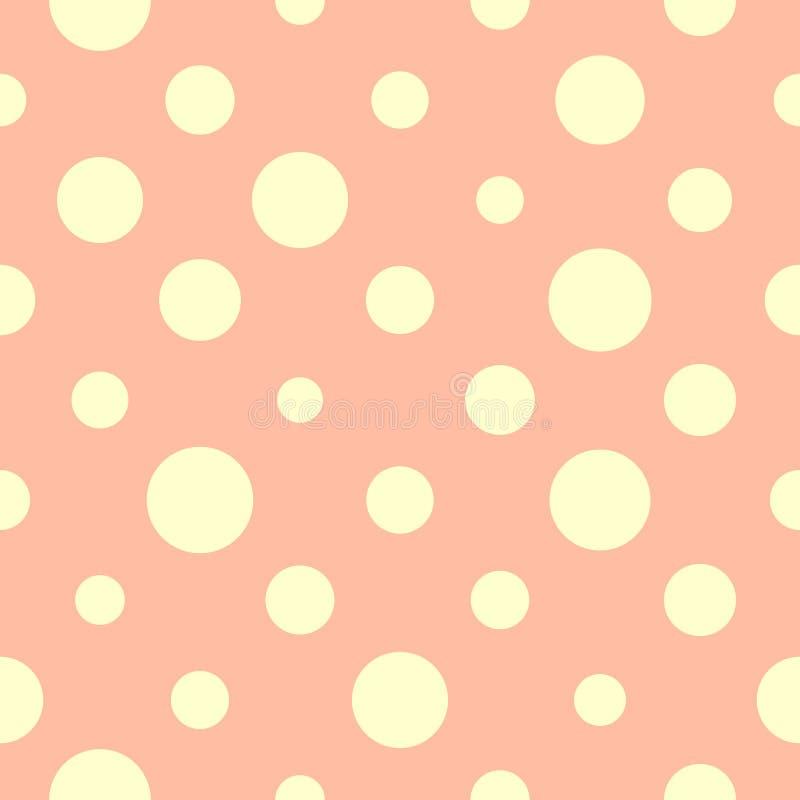 Lunares ligeros en un fondo rosado, modelo inconsútil ilustración del vector