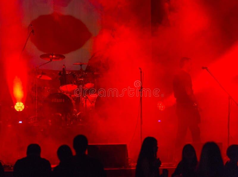 Lunarsea zesp?? na scenie przy rockowym festiva obrazy royalty free