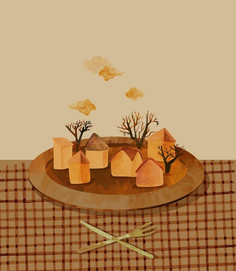 Lunch royalty ilustracja