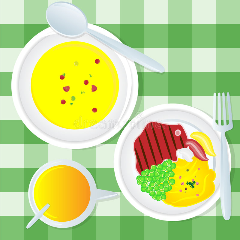Download Lunch stock illustration. Image of puree, illustration - 3784481