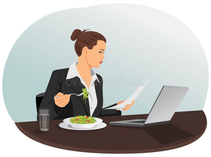 lunch stock illustrationer