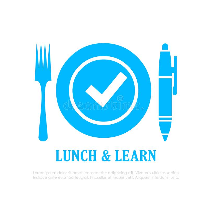Free Lunch And Learn Vector Icon Royalty Free Stock Photography - 135631827