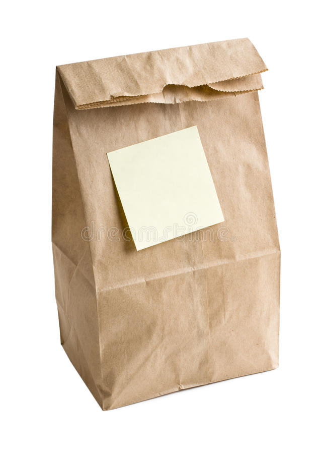 Download Lunch bag stock photo. Image of class, brown, college - 19618732