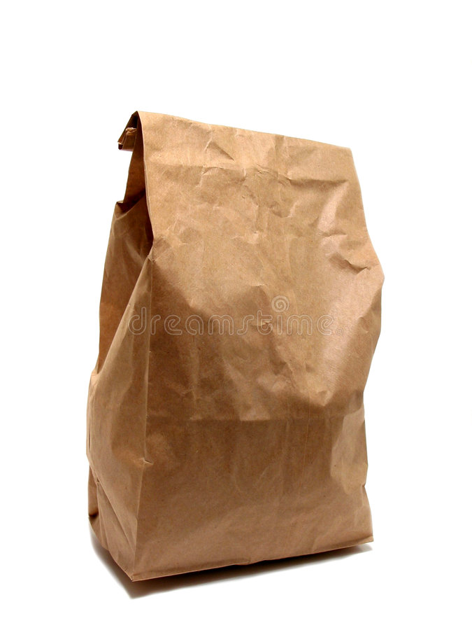 Lunch bag paper royalty free stock image