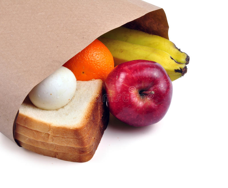Lunch bag - path royalty free stock photography