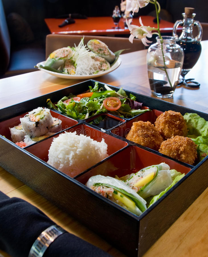 Lunch bento box stock photo