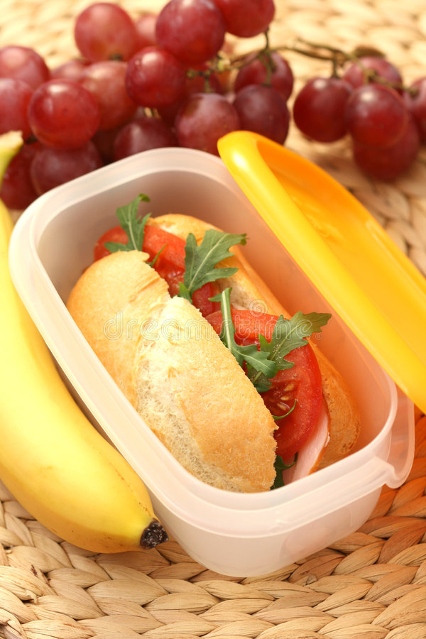 Download Lunch box stock image. Image of banana, whole, work, studio - 9270899