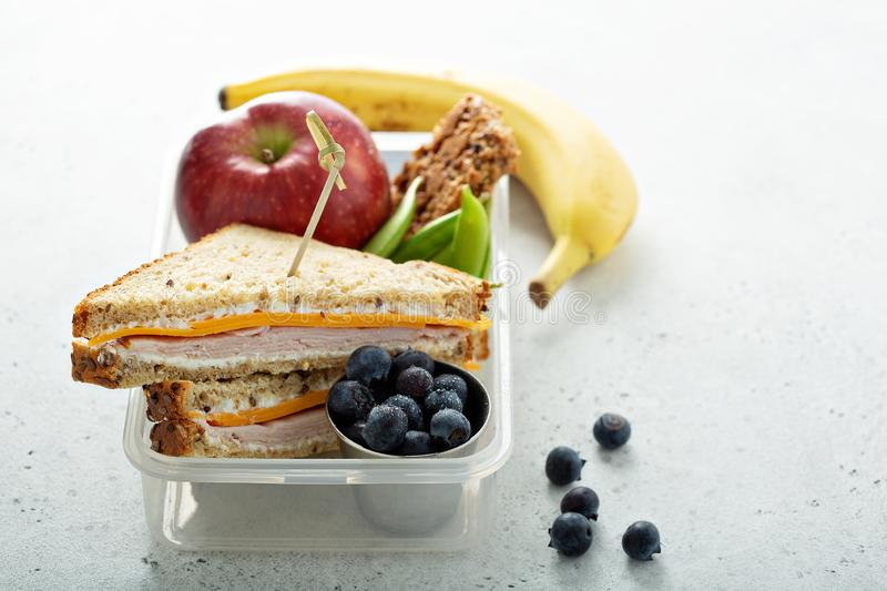Lunch box for kids royalty free stock photos