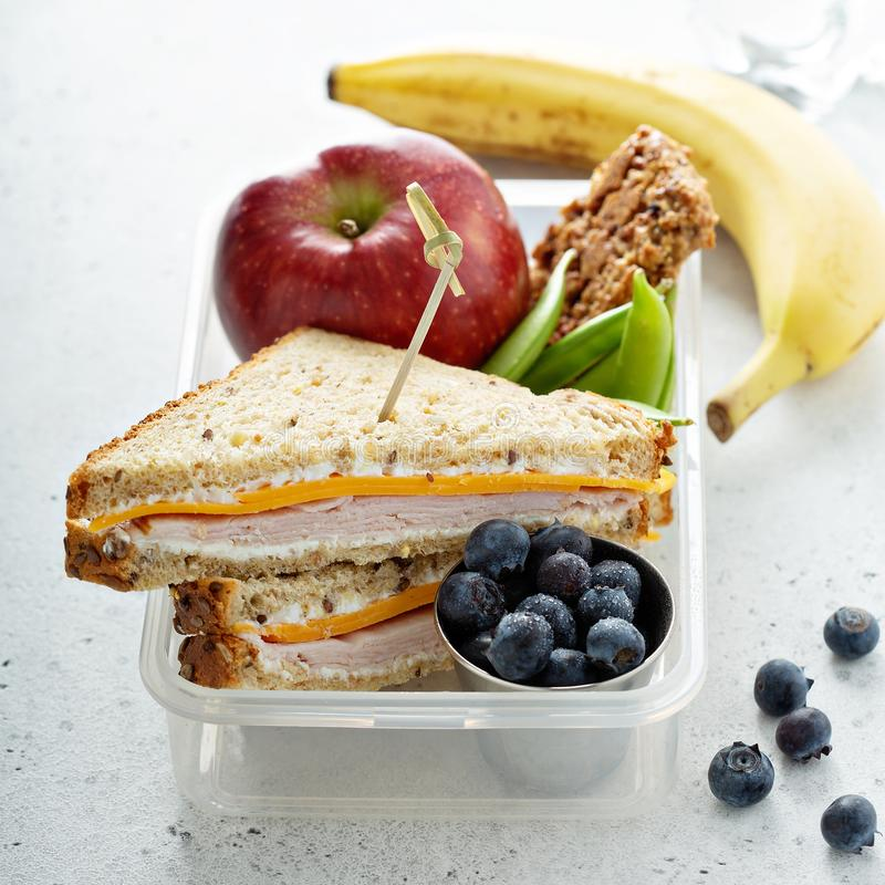 Lunch box for kids stock photography