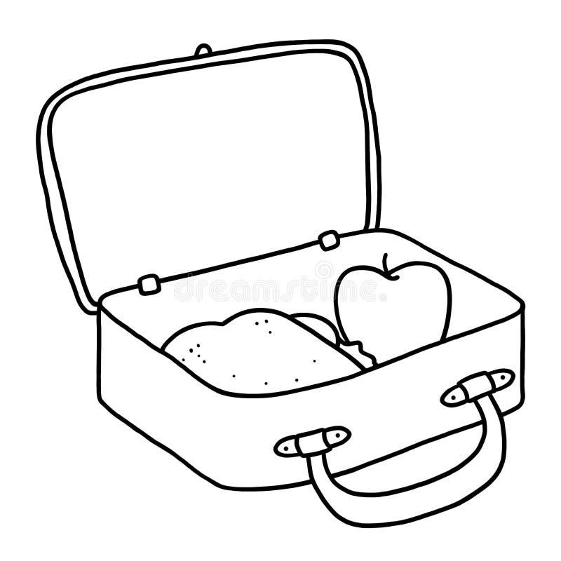 Lunch Box Outline Illustration Stock Illustration - Illustration Of Doodle Healthy 86179946