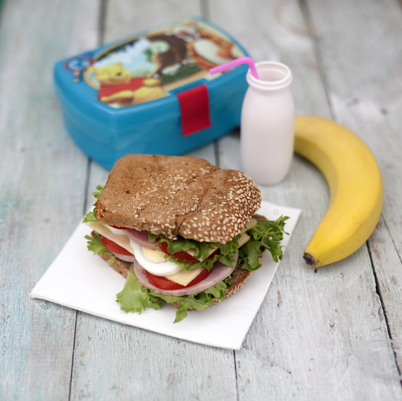 Lunch box royalty free stock images