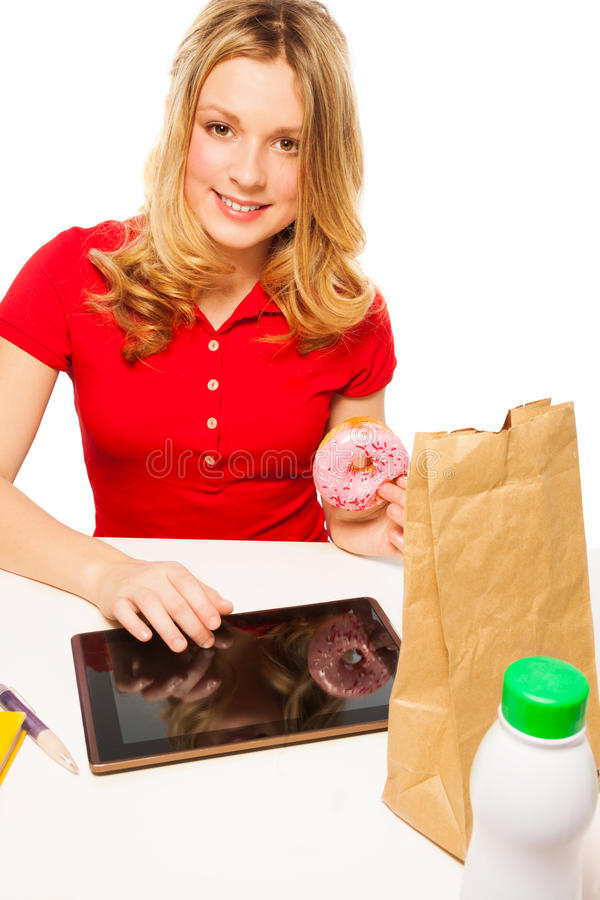 Download Lunch break in study stock photo. Image of long, food - 28403762