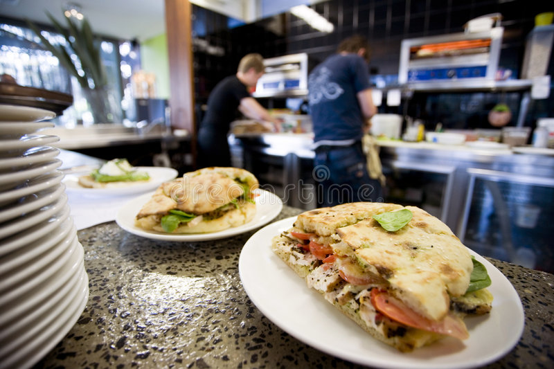 Download Lunch At A Cafe And Kitchen Stock Photography - Image: 2793692