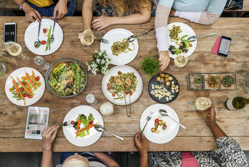 Lunch Celebration Meeting Friends Concept royalty free stock image