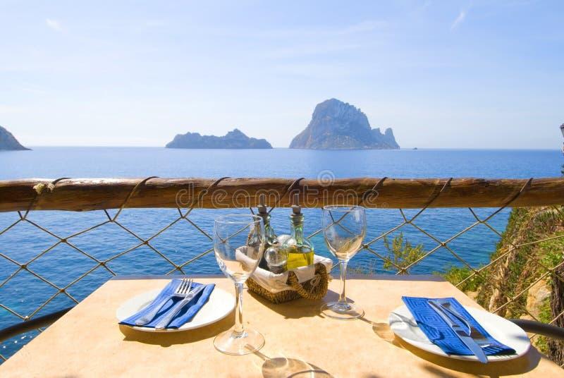 Lunch of Diner 02 van Ibiza serie stock fotografie