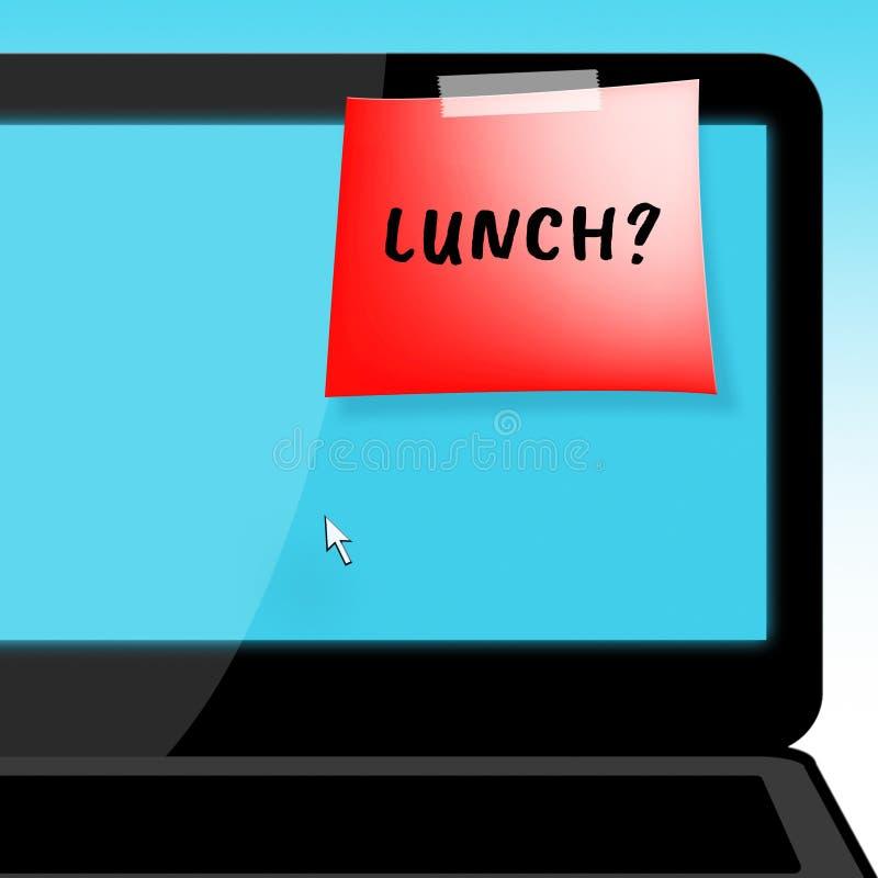Lunch eller frunch betyder att få den hungriga illustrationen 3d stock illustrationer