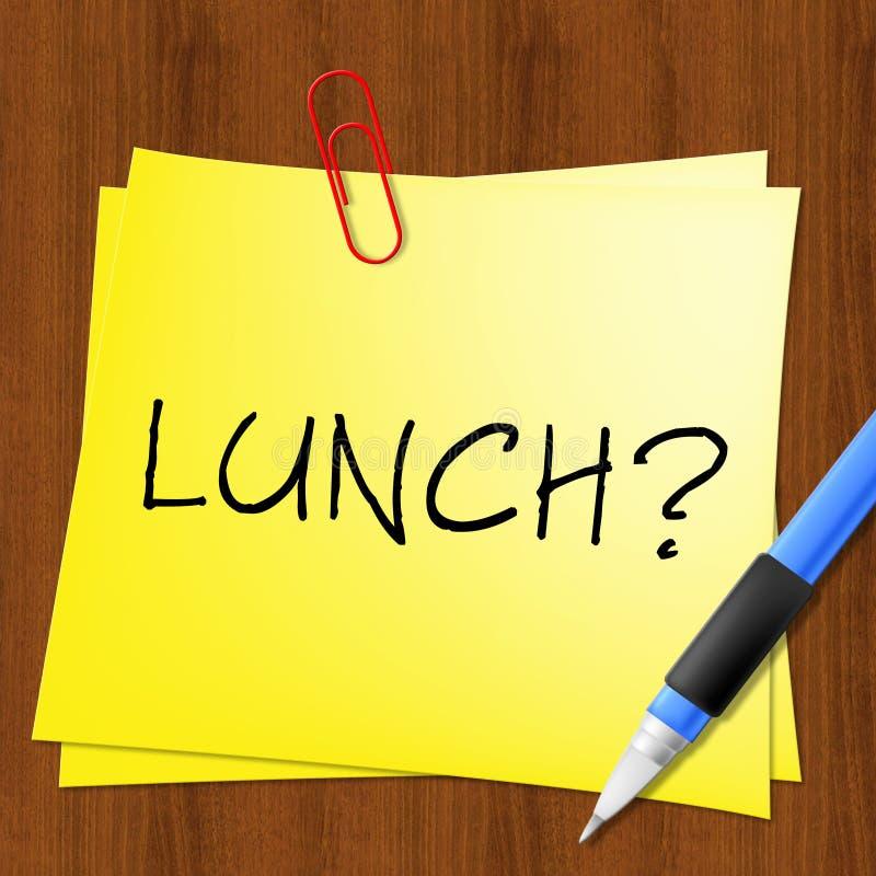Lunch eller frunch föreställer att få den hungriga illustrationen 3d stock illustrationer