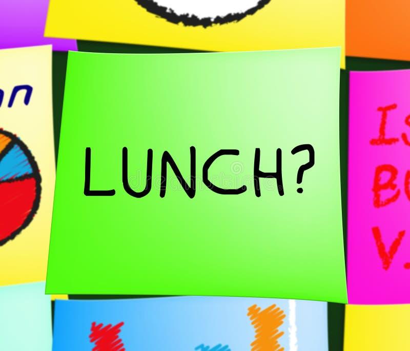 Lunch eller frunch som föreställer få den hungriga illustrationen 3d royaltyfri illustrationer