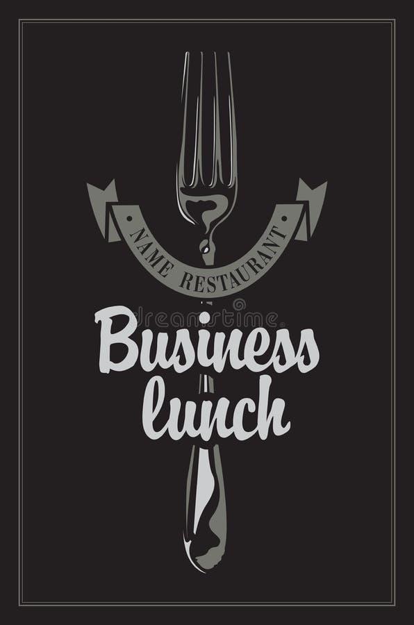 lunch för upplagan för affärskaffekoppen öppnade behändig över royaltyfri illustrationer