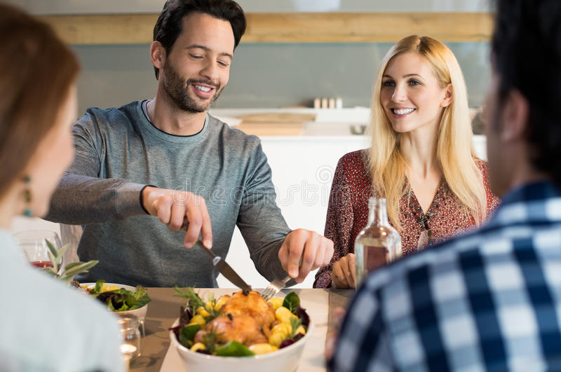 Lunch with friends royalty free stock photography