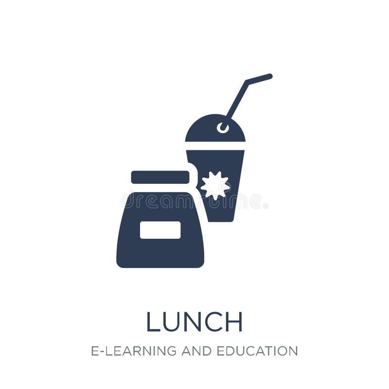 Lunch ikona Modna płaska wektorowa lunch ikona na białym tle fr royalty ilustracja