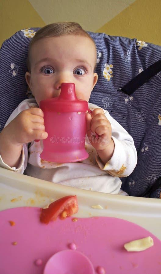 lunch jest dziecko fotografia stock
