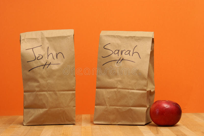 Download Lunch for John and Sarah stock image. Image of packaging - 27057801