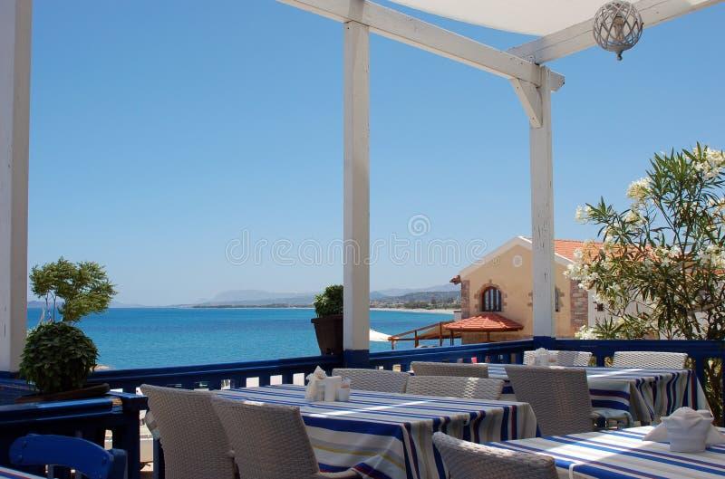 Lunch op het Eiland van Kreta stock afbeelding