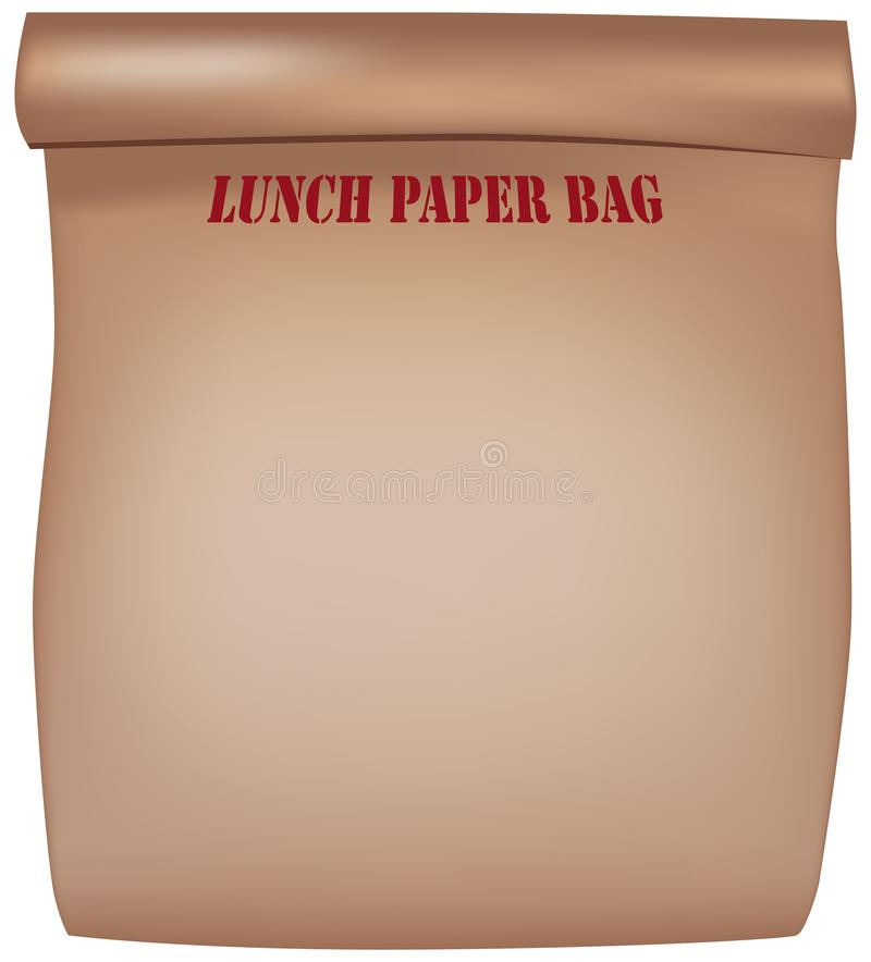 Lunch paper bag royalty free illustration