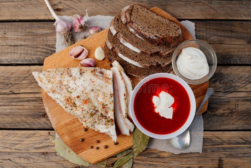 Lunch Rosyjski rolnik obraz royalty free