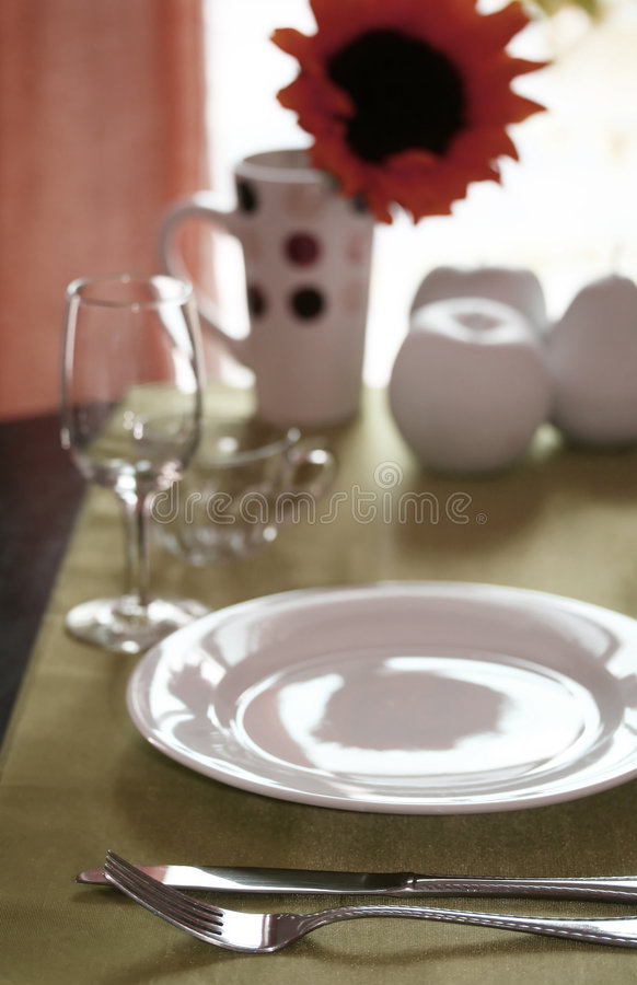Download Lunch Table stock image. Image of gourmet, knife, restaurant - 5547587