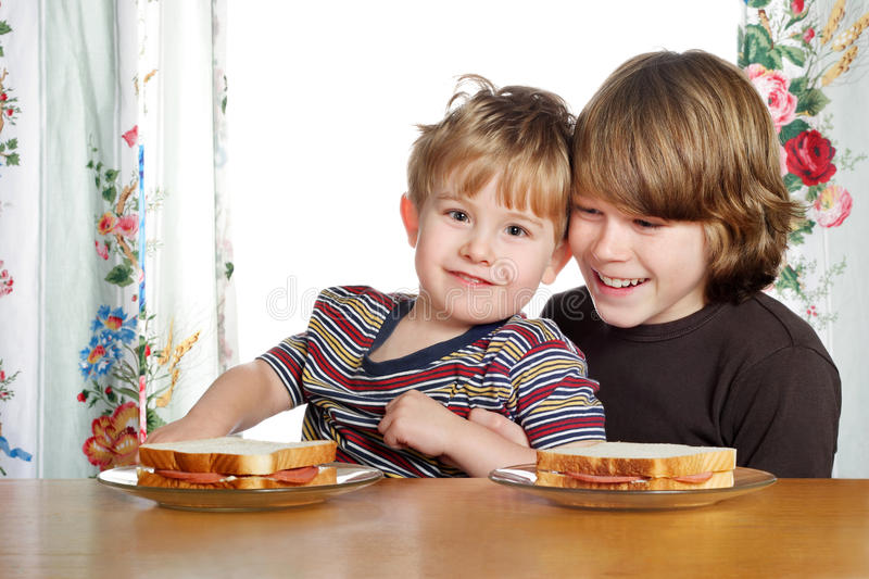 Download Lunch time stock image. Image of adolescent, children - 9696213
