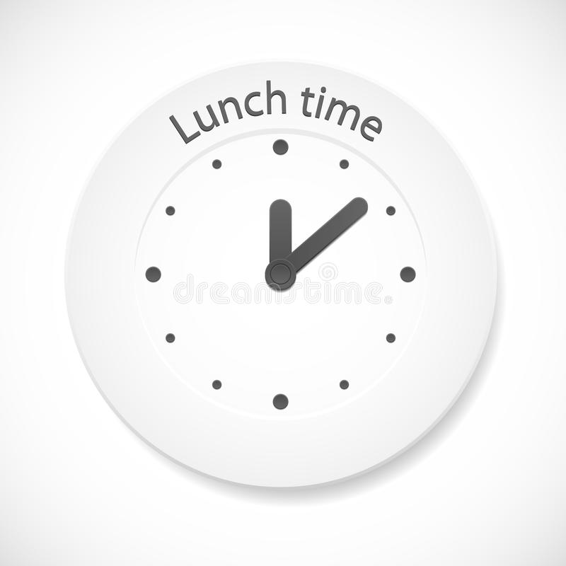 Download Lunch time clock stock vector. Image of healthy, graphic - 21210955