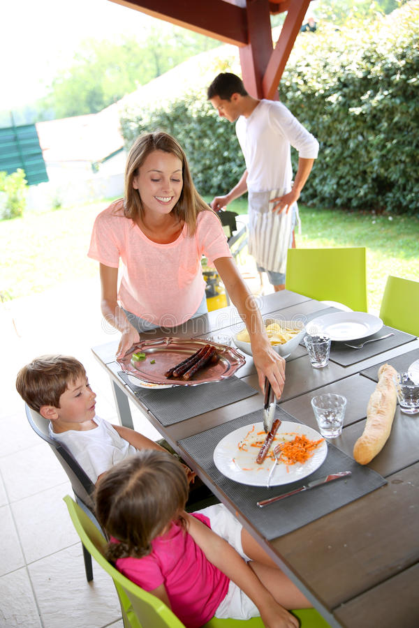 Lunch time in family royalty free stock photo
