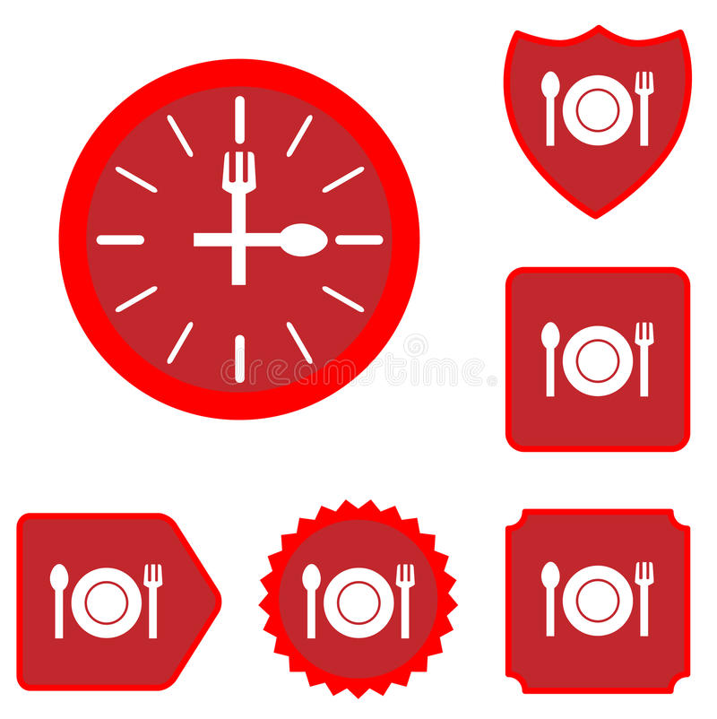 Free Lunch Time Food Icon Set Royalty Free Stock Photo - 67980325