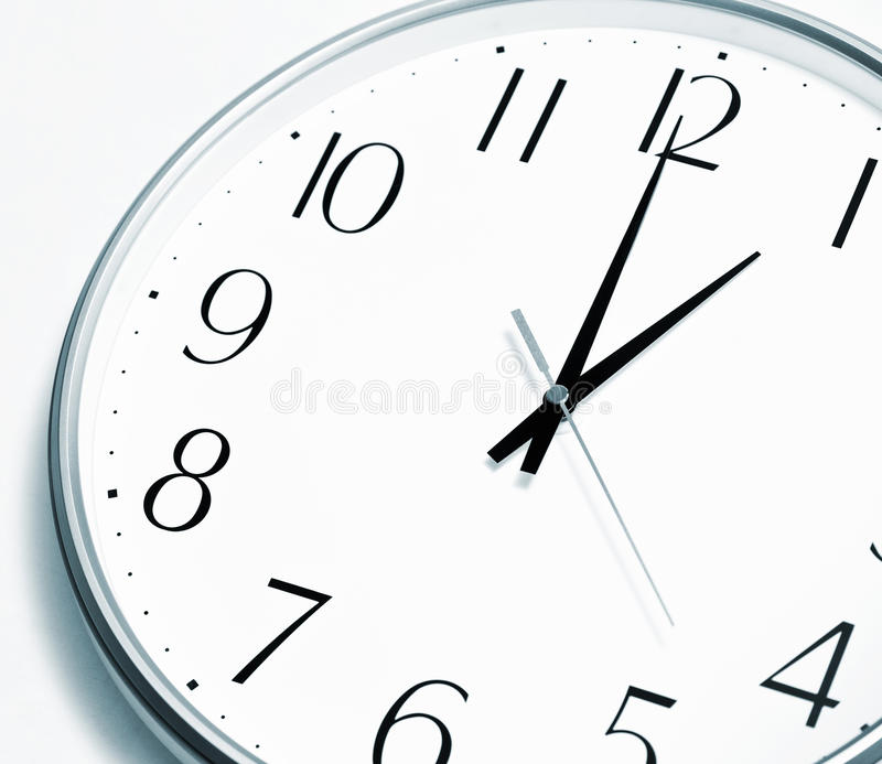 Lunch time. High quality image. Lunch time. Clock showing a lunch break. High quality image stock photo