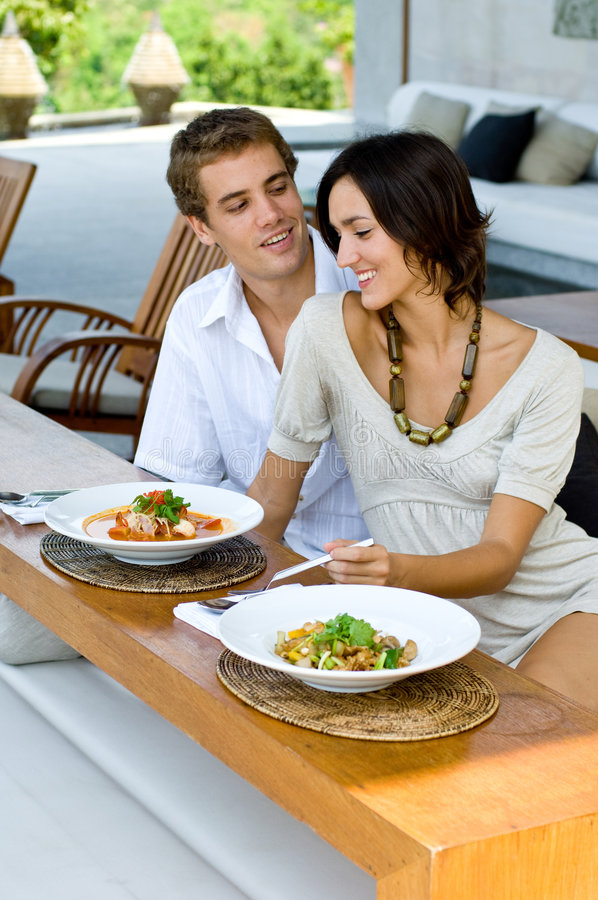 Lunch Together royalty free stock photos