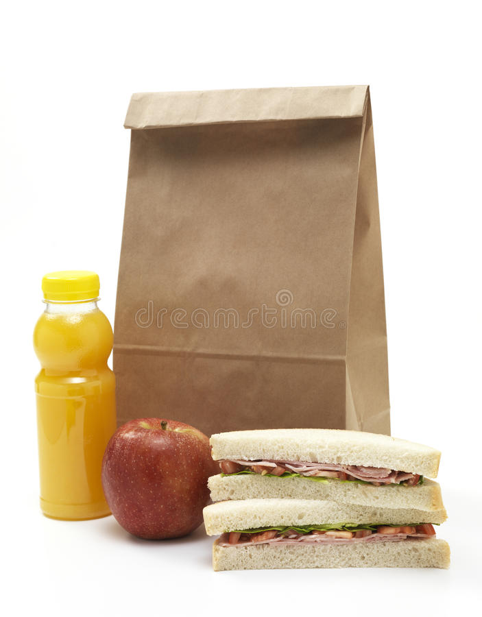 Lunch torba fotografia royalty free